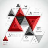 Modern 3d infographics business triangle. Vector illustration. c
