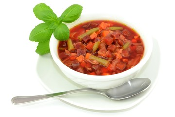 beetroot soup with vegetables