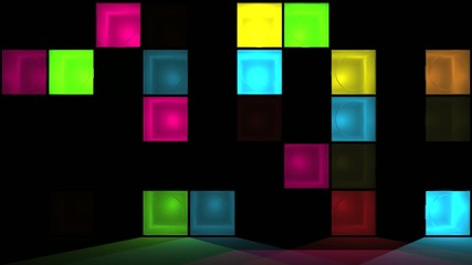 Wall of flashing lights - Discotheque
