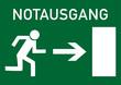 Schild Notausgang rechts