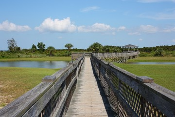 Boardwalk Leading to a Gazebo