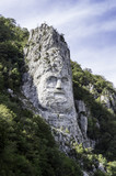Iron Gates, Decebal's head carved in rock