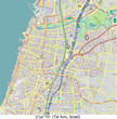 Tel Aviv Israel city  hi res aerial view map