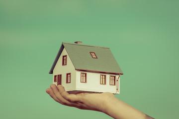 House in children's hands