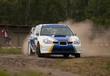 Rally car in action - Subaru Impreza