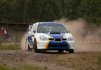 Rally car in action - Subaru Impreza