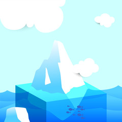 Arctic iceberg, glacier