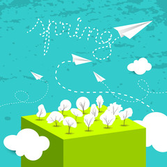 Spring card, background