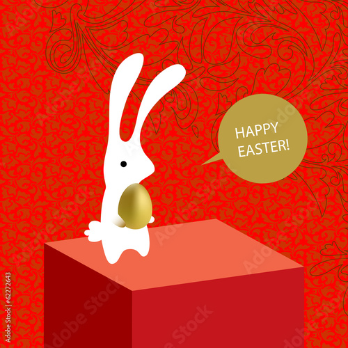 happy easter card, background