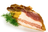 bacon - smoked and salted pork belly,