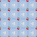 Seamless strawberry background pattern