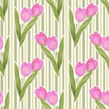 Seamless floral tulip pattern background