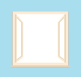 open window - vector illustration
