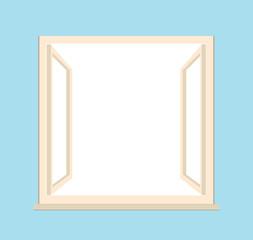 open window - vector illustration