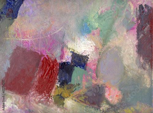 pastose Ölfarben auf Leinwand © bittedankeschön