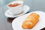 coffee with puff pastry