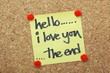 Hello, I Love You, The End