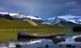 Sunset in Maligne lake, Jasper national park, Canada poster
