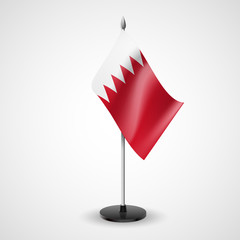 Table flag of Bahrain