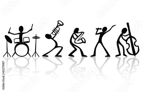 Band musicians group hand drawn vector t-shirt art