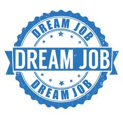 Dream job stamp