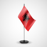 Table flag of Albania