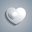 Simple white paper heart template