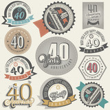 Vintage style 40 anniversary collection