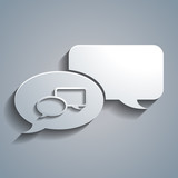 Simple white speech bubbles chat conversation