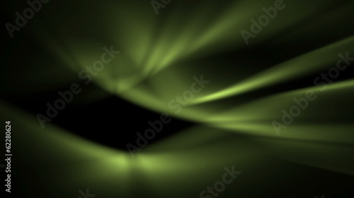 blurry background of soft green light waves in abstract motion