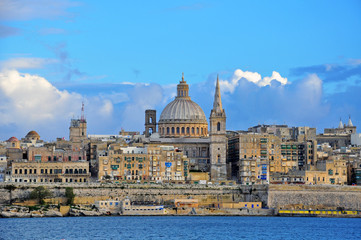 Valletta architectural background