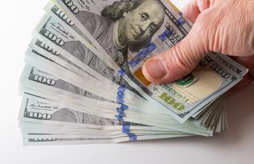 New design $100 dollar US bills or notes