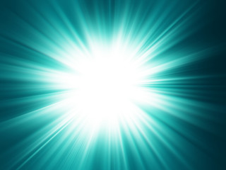 Starburst background, sunbeams going in all directions, green an