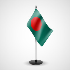 Table flag of Bangladesh