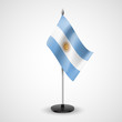 Table flag of Argentina