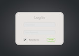 Vector login form on dark background. Eps 10