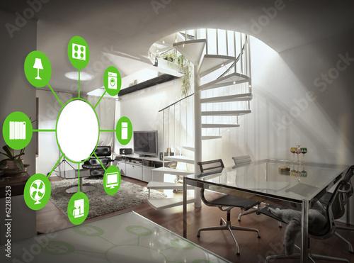 Leinwandbild Motiv Smart Home Device - Home Control