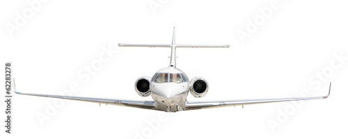Corporate jet isolated on white