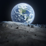 Fototapety Earth seen from the moon.