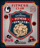 Vintage Fitness Gym poster design