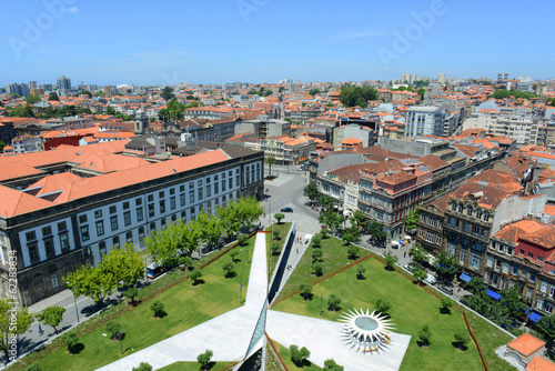 Porto Old City Center aerial view and University of Porto, Porto