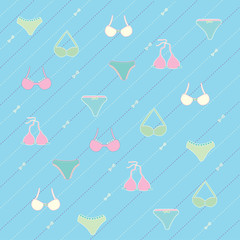 Lingerie seamless pattern Vector illustration