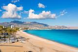 Fototapety Altea Playa del Albir of white stones in Alicante Spain