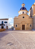 Altea old village Church typical Mediterranean at Alicante