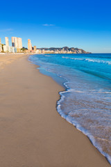 Benidorm Alicante playa de Poniente beach in Spain