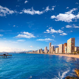 Benidorm Alicante beach in Mediterranean Spain
