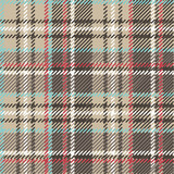 Beige,brown,blue,red and white tartan seamless vector pattern