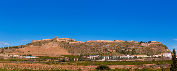 Sagunto Castle in Calderona Sierra of Valencia Spain