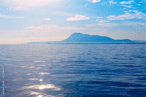 Denia San Antonio Cape and Montgo view from sea Poster