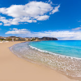 Moraira Playa la Ampolla beach in Teulada Alicante Spain
